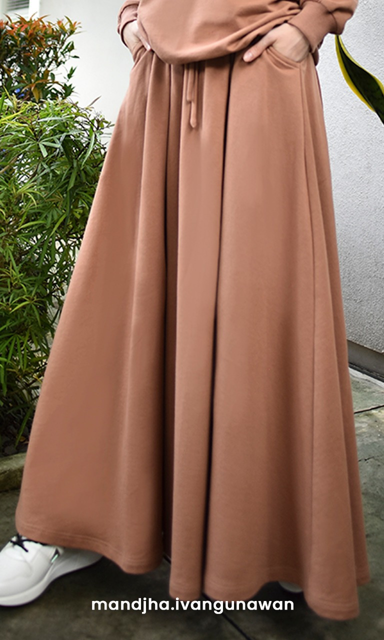 Flared Brown Skirt
