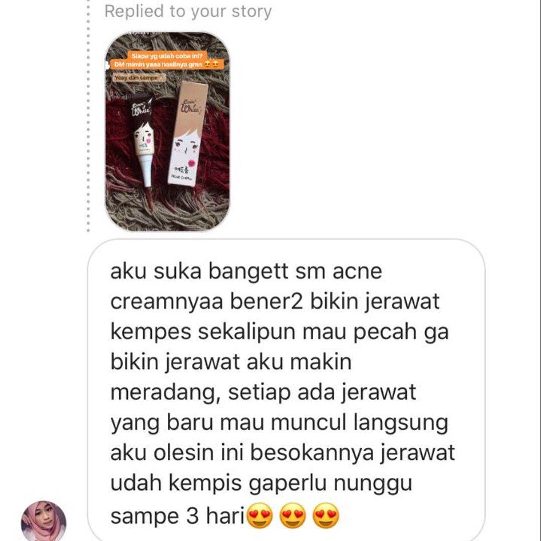 Review Testimoni Everwhite Acne Cream 5