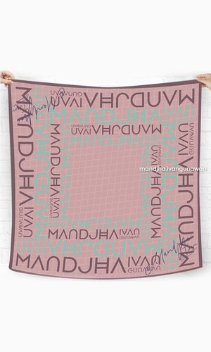 Perfect Monogram Pink Scarf