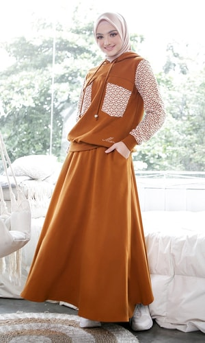 Knit Skirt Basic Brown