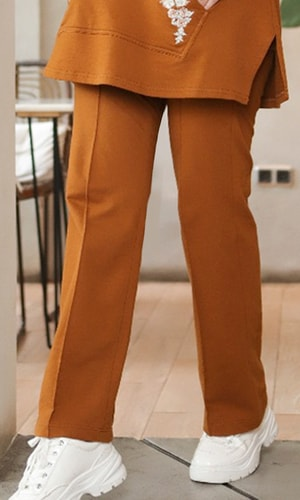 Basic Knit Pants Brown
