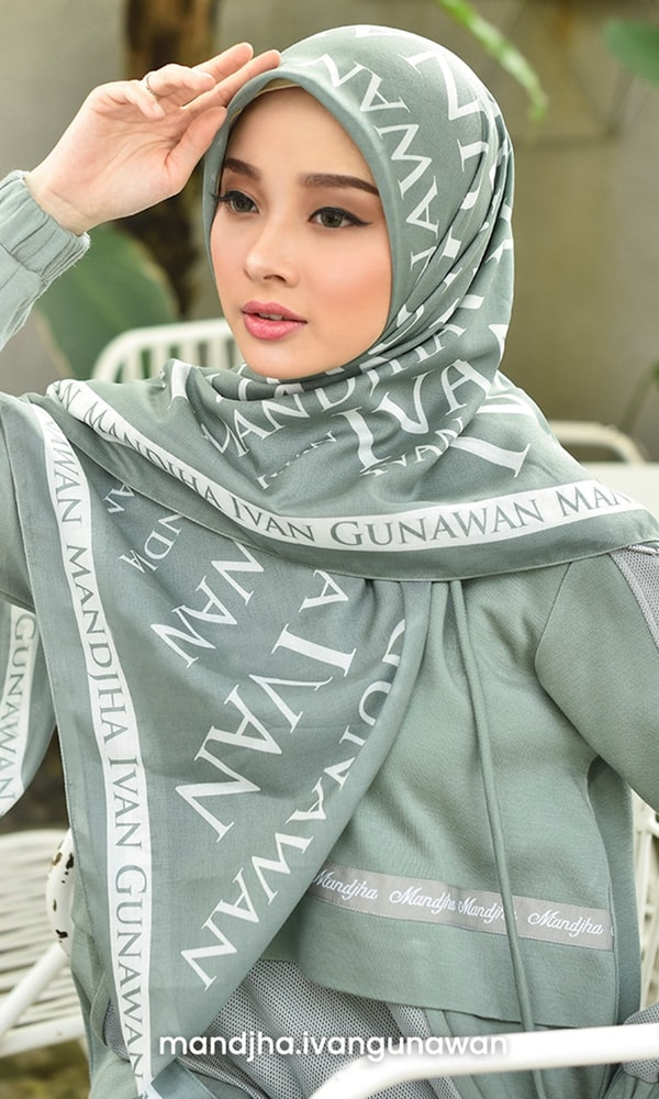 Monogram Grey Scarf