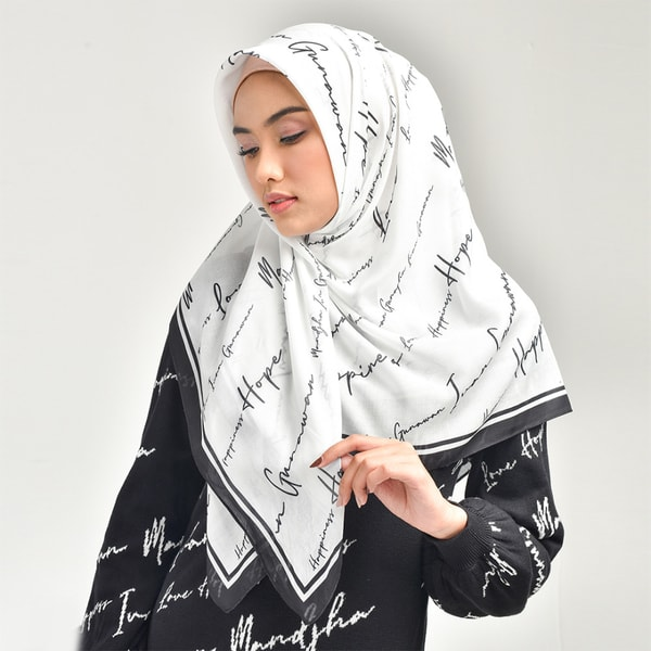 Hope White Scarf