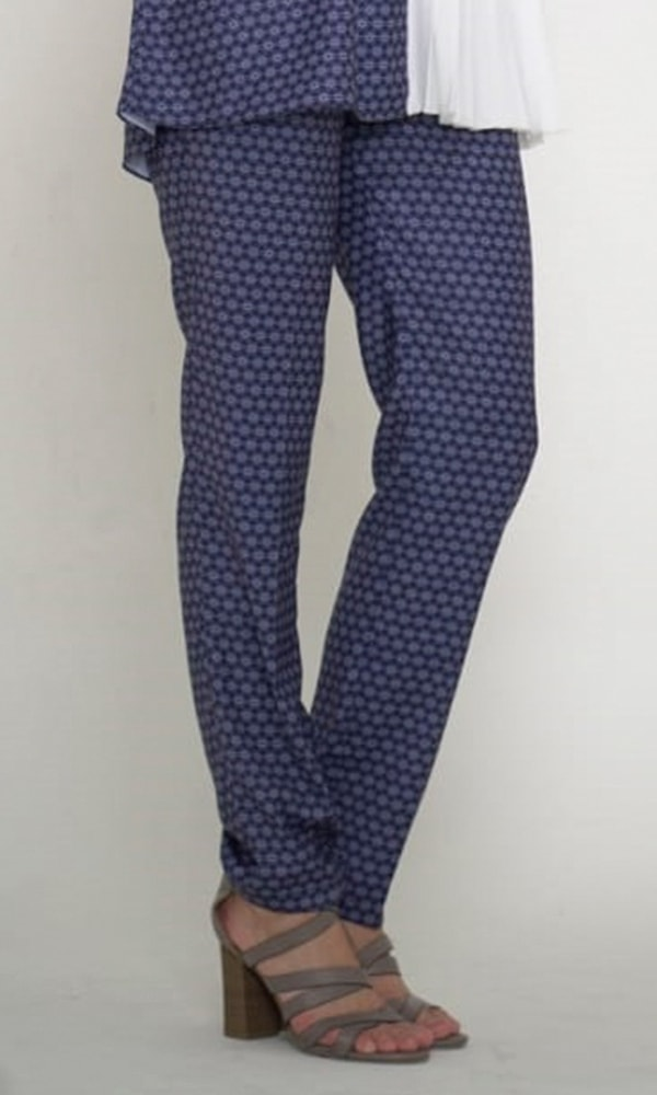 Printed Pants Navy