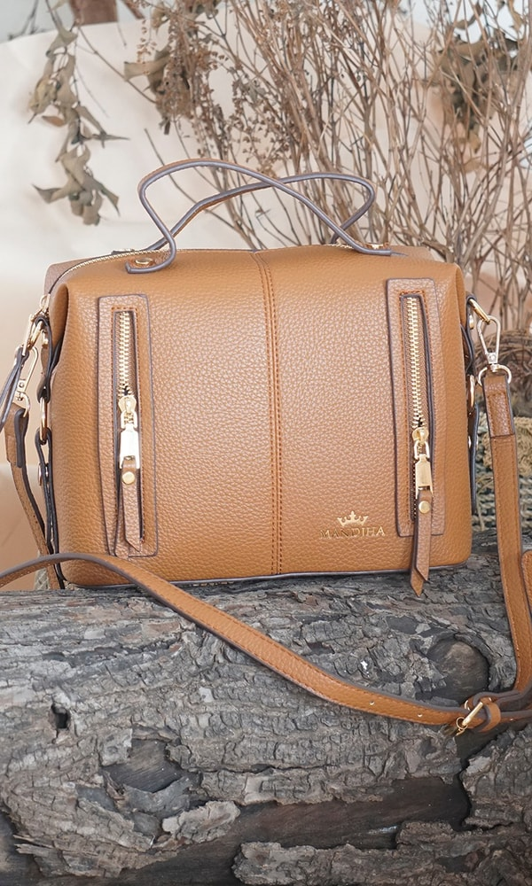 Mandjha Hand Bag Brown