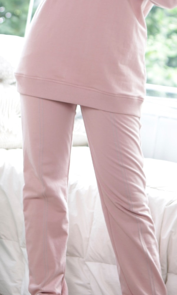 Basic Knit Pants Pink