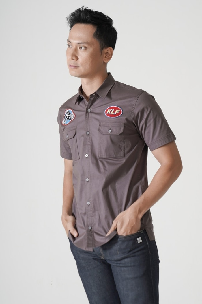 Grey Utility Patch Shirt